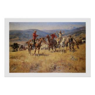 Old West Law Dulls Edge of Chance Art Print Poster