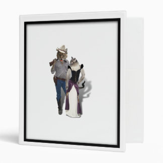 Old West 'Purrfect'  Cat Couple 3 Ring Binder