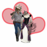Old West 'Purrfect'  Cat Couple Cut Out