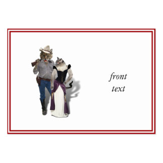 Old West 'Purrfect'  Cat Couple Pack Of Chubby Business Cards