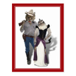Old West 'Purrfect'  Cat Couple Post Cards