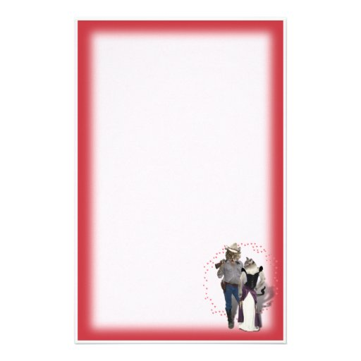 Old West 'Purrfect'  Cat Couple Stationery