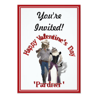 Old West 'Purrfect'  Cat Couple Valentine 13 Cm X 18 Cm Invitation Card