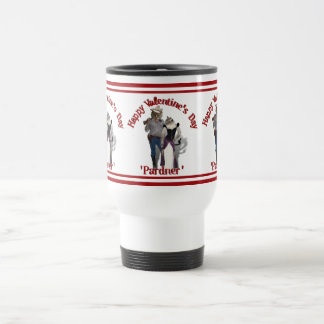 Old West 'Purrfect'  Cat Couple Valentine Stainless Steel Travel Mug