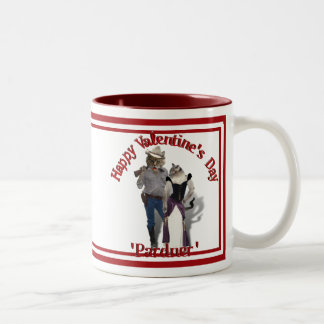 Old West 'Purrfect'  Cat Couple Valentine Two-Tone Mug