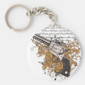 Old West Revolver Key Chains