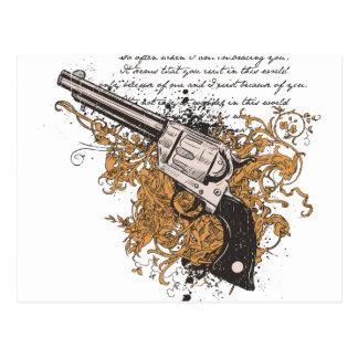 Old West Revolver Postcard
