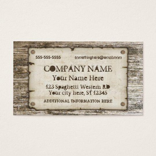 Old West Vintage Business Cards