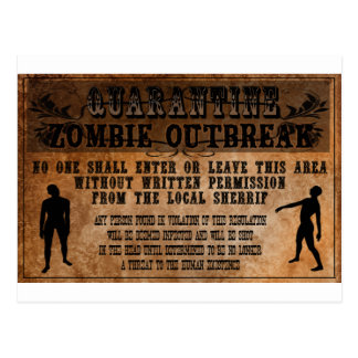 OLD WEST ZOMBIE POSTCARD