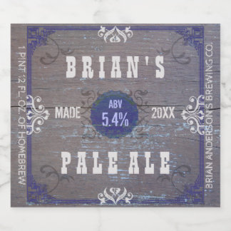 Old Western Saloon Rustic Wood Craft Homebrewing Beer Bottle Label