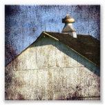 Old White Barn Grunge Photo Print