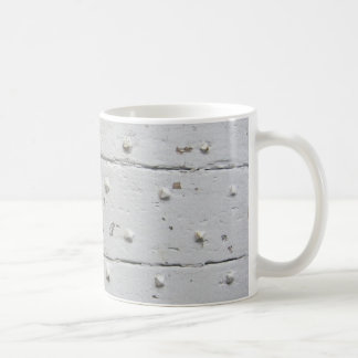 Old White French Door With Studs Coffee Mug