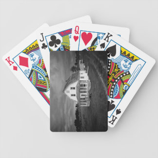 Old white House Bicycle Playing Cards