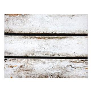 Old white wood 21.5 cm x 28 cm flyer