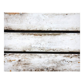 Old white wood flyer design
