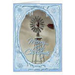 OLD WINDMILL & ICICLES by SHARON SHARPE Greeting Card