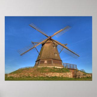 Old Windmill Print