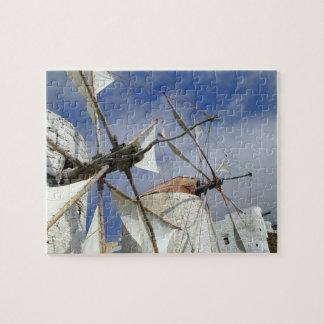 Old Windmills Olympos Karpathos, Greece Jigsaw Puzzle