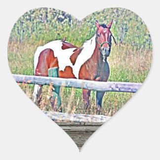 Old window pony 1 heart stickers