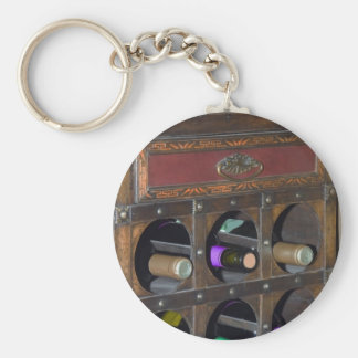 old wine cabinet basic round button key ring