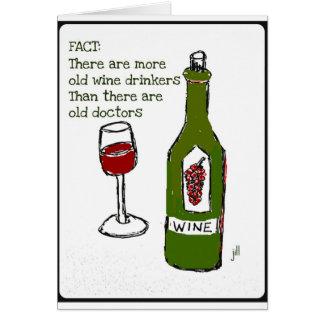 OLD WINE DRINKERS...WINE PRINT by jill Card
