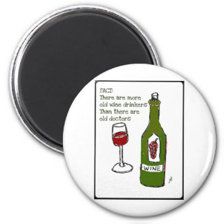 OLD WINE DRINKERS...WINE PRINT by jill 6 Cm Round Magnet