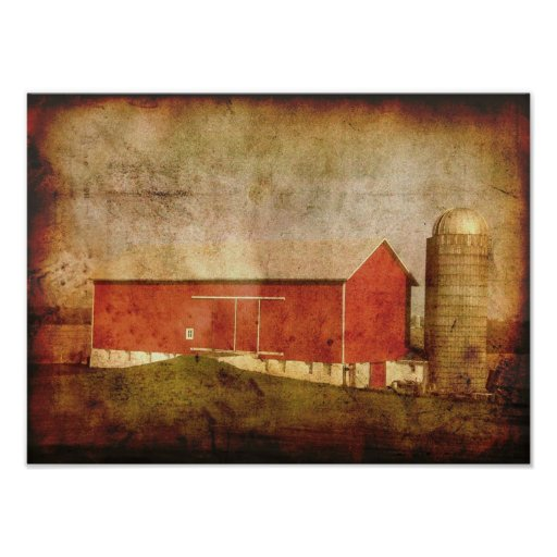 Old Wisconsin Barn-poster Poster