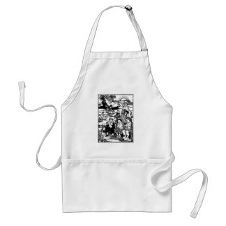 Old Woman and Shoe House Nursery Rhyme Standard Apron
