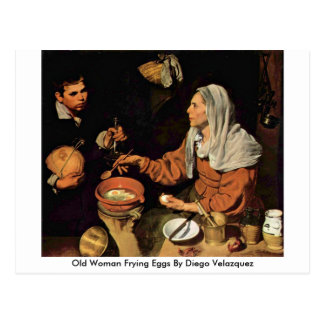 Old Woman Frying Eggs By Diego Velazquez Post Card