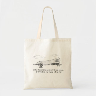 Old woman living in flat tote bag