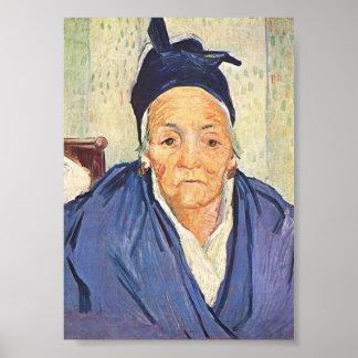 Old Woman of Arles, Vincent van Gogh Poster
