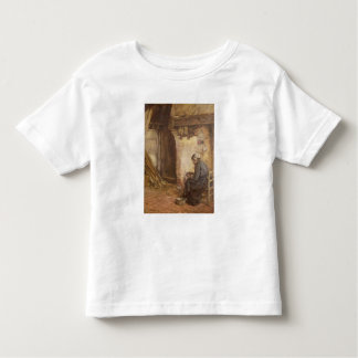 Old Woman Peeling Potatoes Toddler T-Shirt