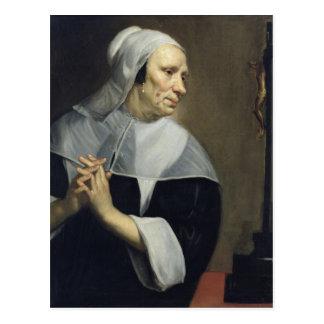 Old Woman Praying Postcard
