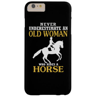 Old Woman Rides Horse Barely There iPhone 6 Plus Case