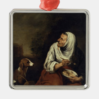 Old Woman with Dog Christmas Ornament