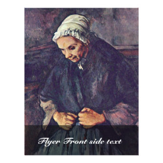 Old Woman With Rosary By Paul Cézanne Personalized Flyer