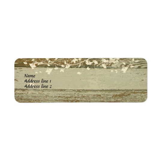 Old Wood Address Labels--gold tint