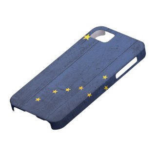 Old Wood Alaska Flag Case For The iPhone 5