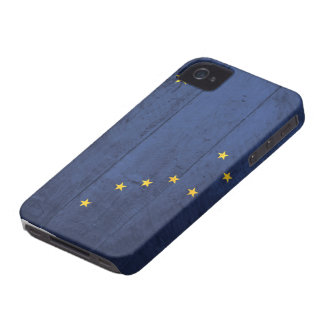 Old Wood Alaska Flag iPhone 4 Cover