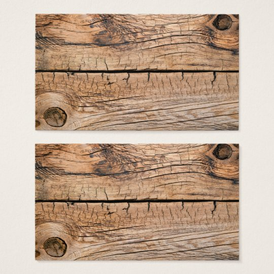 Old Wood Background Business Card
