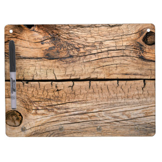 Old Wood Background Dry Erase Board With Key Ring Holder