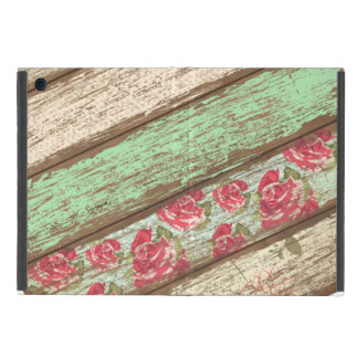 Old Wood Fence Retro Vintage Floral Personalized iPad Mini Case