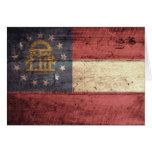Old Wood Georgia Flag; Cards