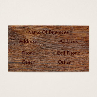 Old Wood Grain Business Card