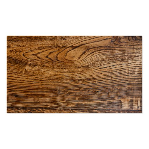 Old wood grain look business cards