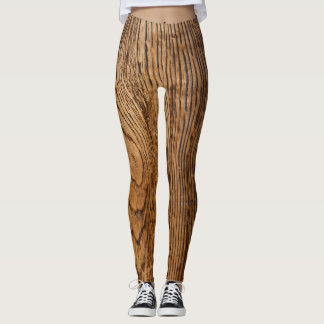 Old wood grain look leggings