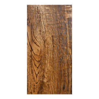 Old wood grain look picture card