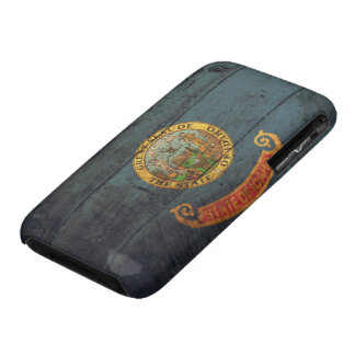 Old Wood Idaho Flag; iPhone 3 Case-Mate Case