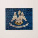 Old Wood Louisiana Flag; Puzzles