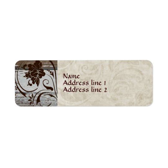 Old Wood Parchment Swirl Address Labels